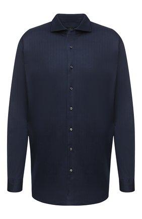 Мужская хлопковая рубашка VAN LAACK темно-синего цвета, арт. M-PER-L/187048/3XL | Фото 1