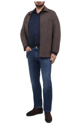 Мужская хлопковая рубашка VAN LAACK темно-синего цвета, арт. M-PER-L/187048/3XL | Фото 2