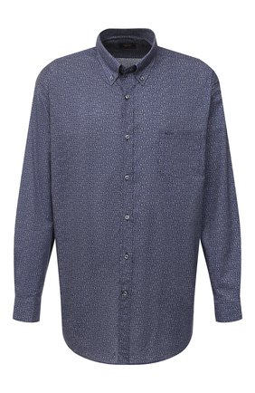 Мужская хлопковая рубашка PAUL&SHARK серого цвета, арт. I20P3136/C00 | Фото 1