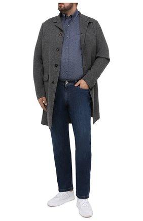 Мужская хлопковая рубашка PAUL&SHARK серого цвета, арт. I20P3136/C00 | Фото 2