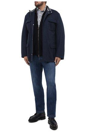 Мужская хлопковая сорочка SONRISA синего цвета, арт. IFJ7167/J824/47-51 | Фото 2