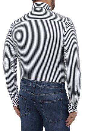Мужская хлопковая сорочка SONRISA синего цвета, арт. IFJ7167/J824/47-51 | Фото 4 (Big sizes: Big Sizes; Рукава: Длинные; Рубашки М: Regular Fit; Случай: Повседневный; Длина (для топов): Стандартные; Материал внешний: Хлопок; Стили: Кэжуэл)