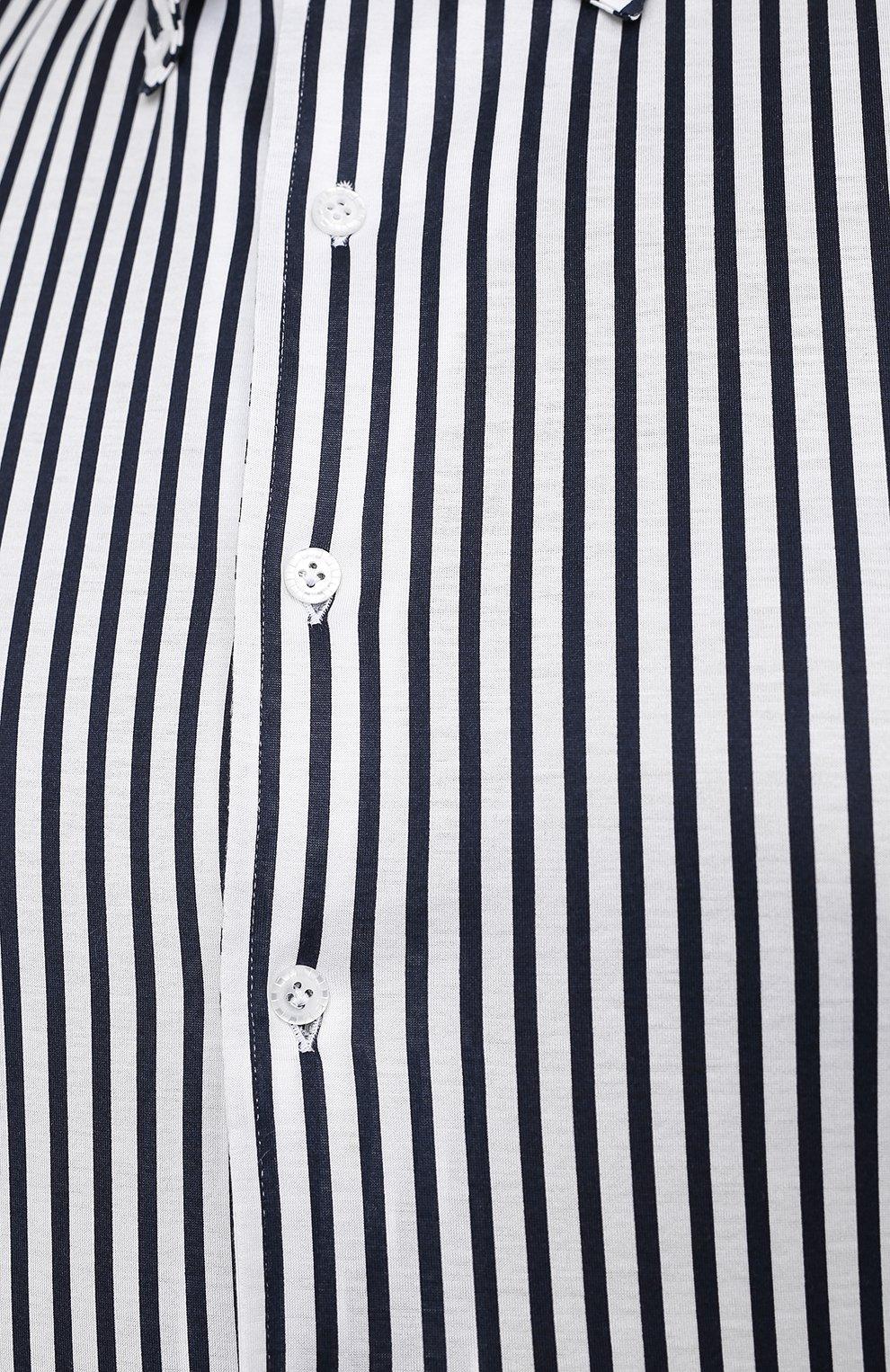 Мужская хлопковая сорочка SONRISA синего цвета, арт. IFJ7167/J824/47-51 | Фото 5 (Big sizes: Big Sizes; Рукава: Длинные; Рубашки М: Regular Fit; Случай: Повседневный; Длина (для топов): Стандартные; Материал внешний: Хлопок; Стили: Кэжуэл)
