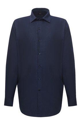 Мужская рубашка из хлопка и кашемира PAUL&SHARK темно-синего цвета, арт. I20P3040CF/FQZ | Фото 1