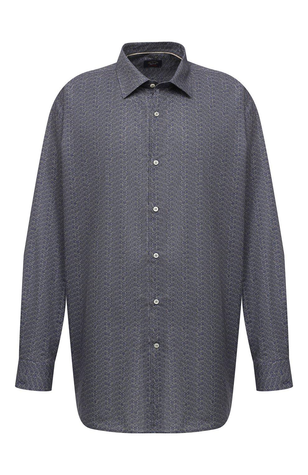 Мужская хлопковая рубашка PAUL&SHARK серого цвета, арт. I20P3088CF/C00/48-50 | Фото 1