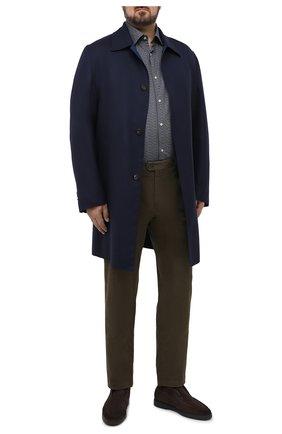 Мужская хлопковая рубашка PAUL&SHARK серого цвета, арт. I20P3088CF/C00/48-50 | Фото 2