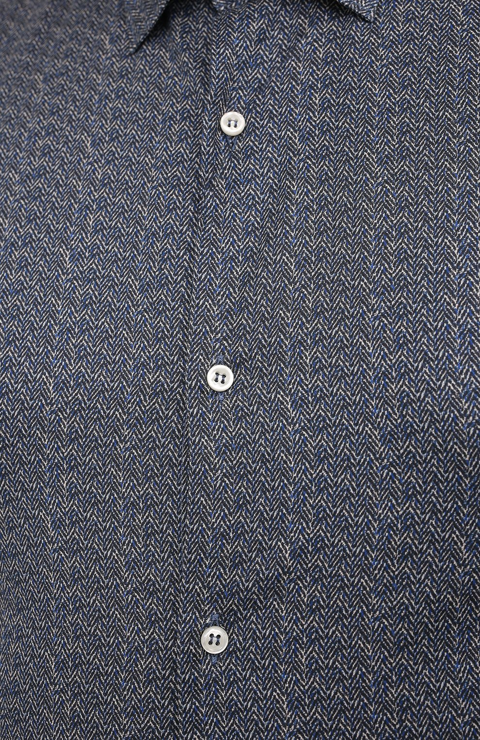 Мужская хлопковая рубашка PAUL&SHARK серого цвета, арт. I20P3088CF/C00/48-50 | Фото 5