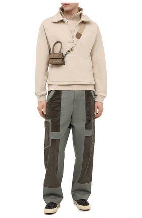 Мужская кожаная сумка le chiquito homme JACQUEMUS хаки цвета, арт. 206BA02/306570 | Фото 2