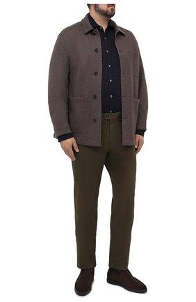 Мужская рубашка CANALI темно-синего цвета, арт. L7B1/GL01997 | Фото 2