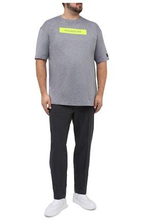 Мужской хлопковые брюки HILTL темно-серого цвета, арт. 72481/60-70 | Фото 2