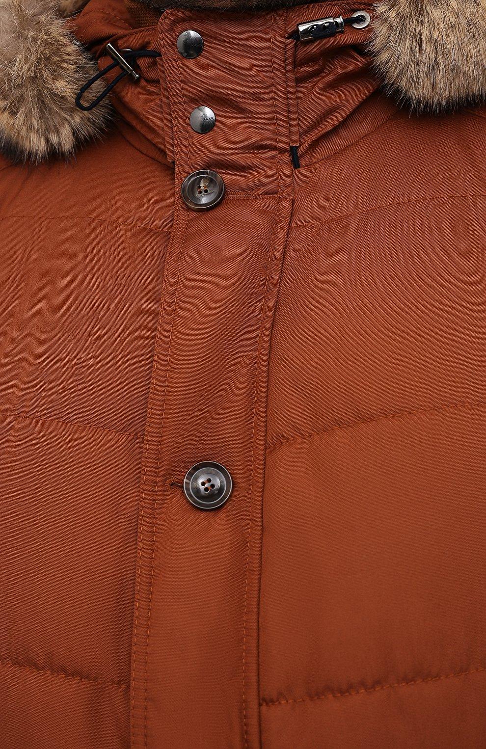 Мужская пуховик EDUARD DRESSLER коричневого цвета, арт. 800152/76437   Фото 5