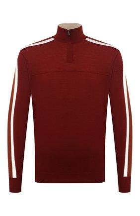 Мужской шерстяной джемпер LORO PIANA бордового цвета, арт. FAI8186 | Фото 1