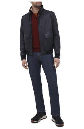 Мужской шерстяной джемпер LORO PIANA бордового цвета, арт. FAI8186 | Фото 2