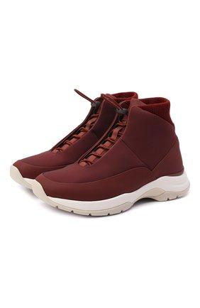 Мужские текстильные ботинки icer LORO PIANA бордового цвета, арт. FAL0146 | Фото 1
