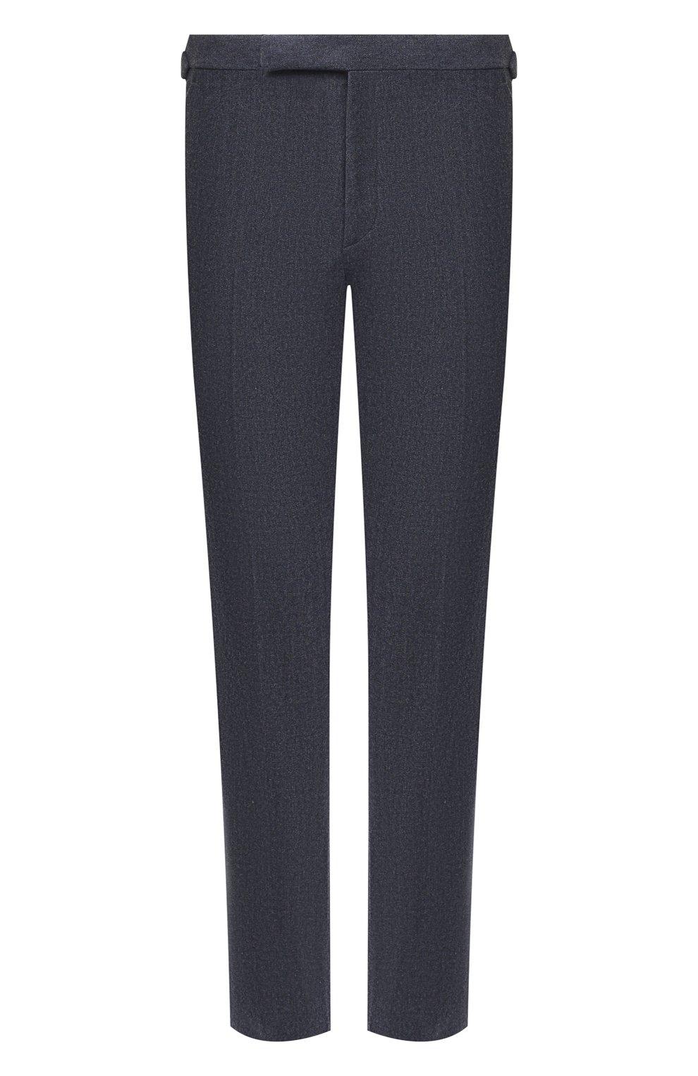 Мужские брюки из шерсти и хлопка RALPH LAUREN синего цвета, арт. 798804746   Фото 1 (Материал внешний: Шерсть; Длина (брюки, джинсы): Стандартные; Случай: Повседневный; Материал подклада: Вискоза; Стили: Кэжуэл)