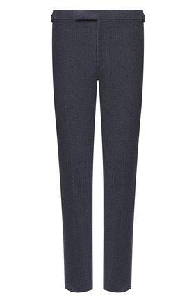 Мужские брюки из шерсти и хлопка RALPH LAUREN синего цвета, арт. 798804746 | Фото 1 (Длина (брюки, джинсы): Стандартные; Материал подклада: Вискоза; Материал внешний: Шерсть; Случай: Повседневный; Стили: Кэжуэл)