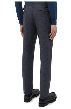 Мужские брюки из шерсти и хлопка RALPH LAUREN синего цвета, арт. 798804746   Фото 4 (Материал внешний: Шерсть; Длина (брюки, джинсы): Стандартные; Случай: Повседневный; Материал подклада: Вискоза; Стили: Кэжуэл)