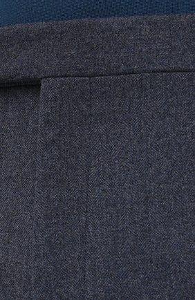 Мужские брюки из шерсти и хлопка RALPH LAUREN синего цвета, арт. 798804746   Фото 5 (Материал внешний: Шерсть; Длина (брюки, джинсы): Стандартные; Случай: Повседневный; Материал подклада: Вискоза; Стили: Кэжуэл)