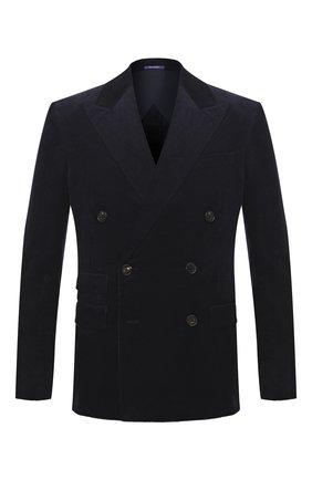 Мужской хлопковый пиджак RALPH LAUREN темно-синего цвета, арт. 798804750 | Фото 1