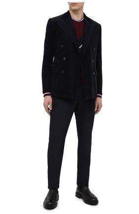 Мужской хлопковый пиджак RALPH LAUREN темно-синего цвета, арт. 798804750 | Фото 2