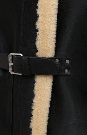 Женская дубленка из овчины RALPH LAUREN черного цвета, арт. 290820362   Фото 5 (Женское Кросс-КТ: Мех; Рукава: Длинные; Материал внешний: Натуральный мех; Длина (верхняя одежда): Короткие; Стили: Кэжуэл)