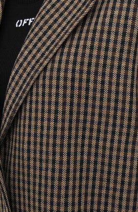 Женское шерстяное пальто ACNE STUDIOS коричневого цвета, арт. A90268   Фото 5 (Материал внешний: Шерсть; Рукава: Длинные; Длина (верхняя одежда): Длинные; 1-2-бортные: Однобортные; Материал подклада: Вискоза; Стили: Кэжуэл)