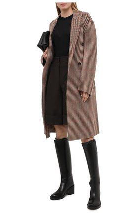 Женский пуловер из шерсти и шелка BURBERRY черного цвета, арт. 8036186 | Фото 2