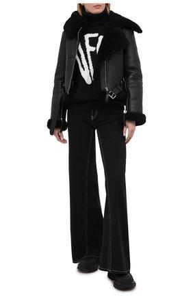 Женская дубленка ACNE STUDIOS черного цвета, арт. A70021 | Фото 2