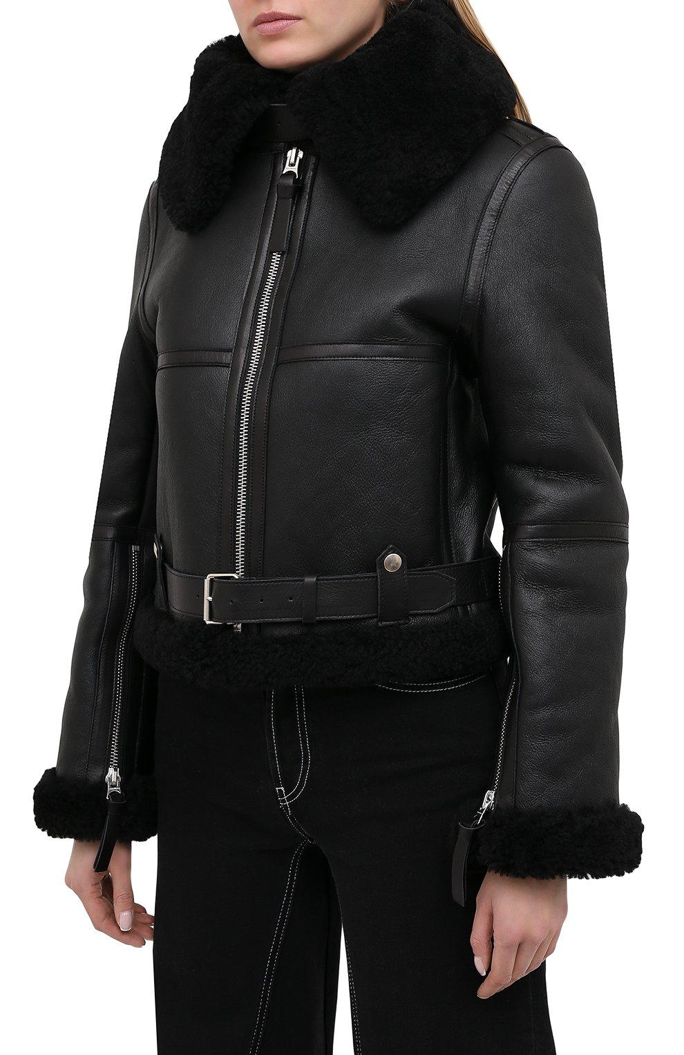 Женская дубленка ACNE STUDIOS черного цвета, арт. A70021   Фото 3
