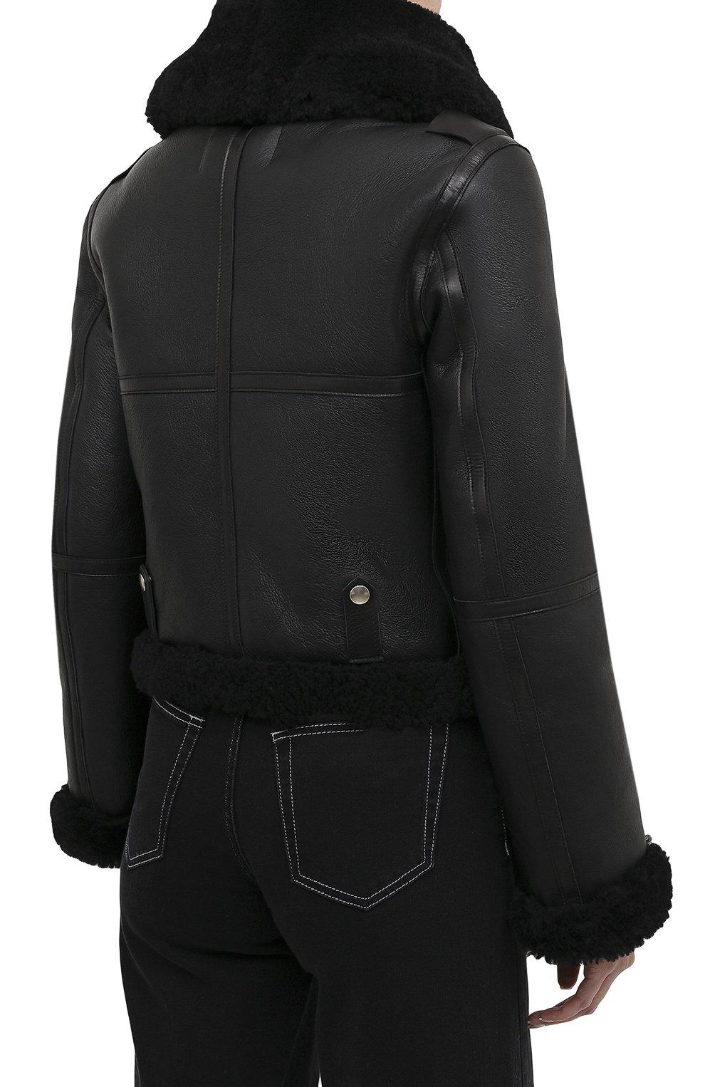 Женская дубленка ACNE STUDIOS черного цвета, арт. A70021   Фото 4