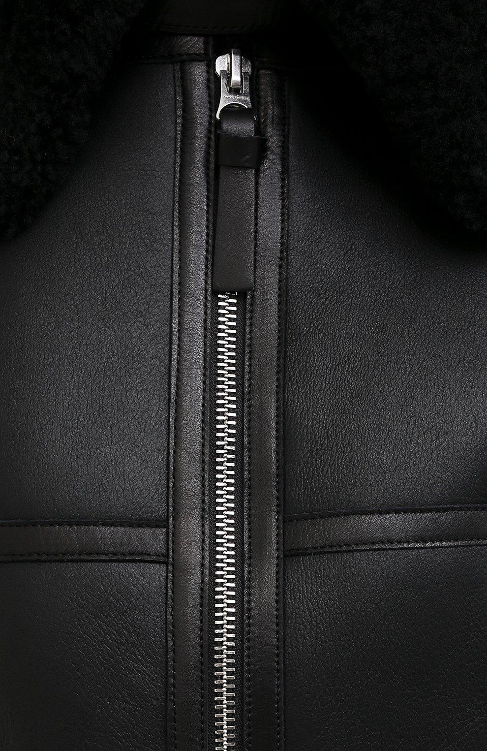 Женская дубленка ACNE STUDIOS черного цвета, арт. A70021   Фото 5