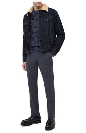 Мужской кашемировый свитер RALPH LAUREN голубого цвета, арт. 790662939 | Фото 2