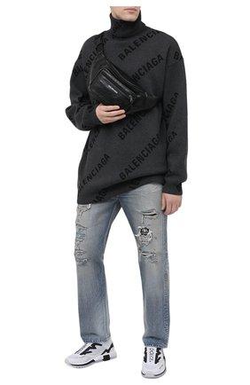 Мужская кожаная поясная сумка BALENCIAGA черного цвета, арт. 529550/1WG9X | Фото 2