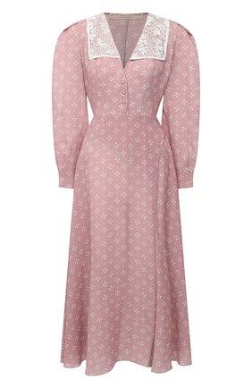 Женское шелковое платье ULYANA SERGEENKO сиреневого цвета, арт. ABM009FW20P (1246т20) | Фото 1