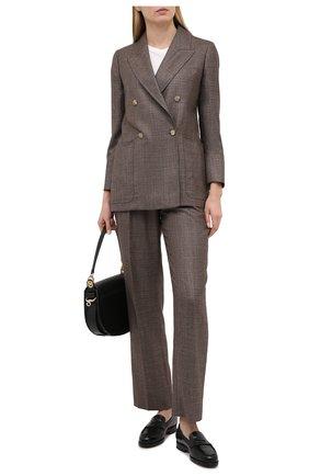 Женские брюки из шелка и кашемира CASASOLA серого цвета, арт. TRS-D-J0BIM/SILK-CASHEMERE | Фото 2