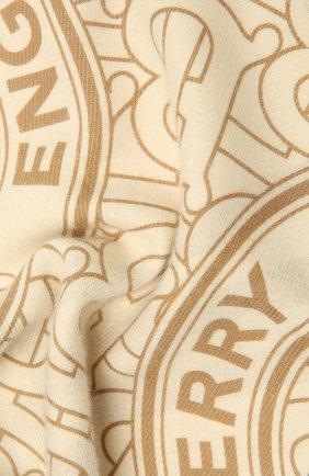 Мужские кашемировый шарф BURBERRY белого цвета, арт. 8033610 | Фото 2