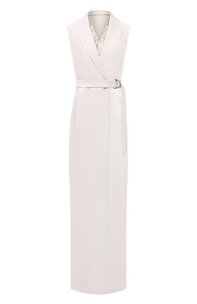 Женское шерстяное платье BRUNELLO CUCINELLI белого цвета, арт. MB526A4694 | Фото 1