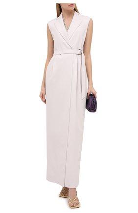 Женское шерстяное платье BRUNELLO CUCINELLI белого цвета, арт. MB526A4694 | Фото 2