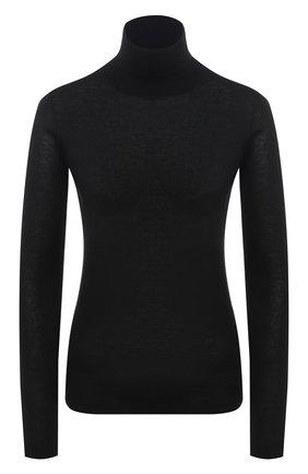Женская водолазка из кашемира и шелка VALENTINO черного цвета, арт. UB0KC19L61M   Фото 1
