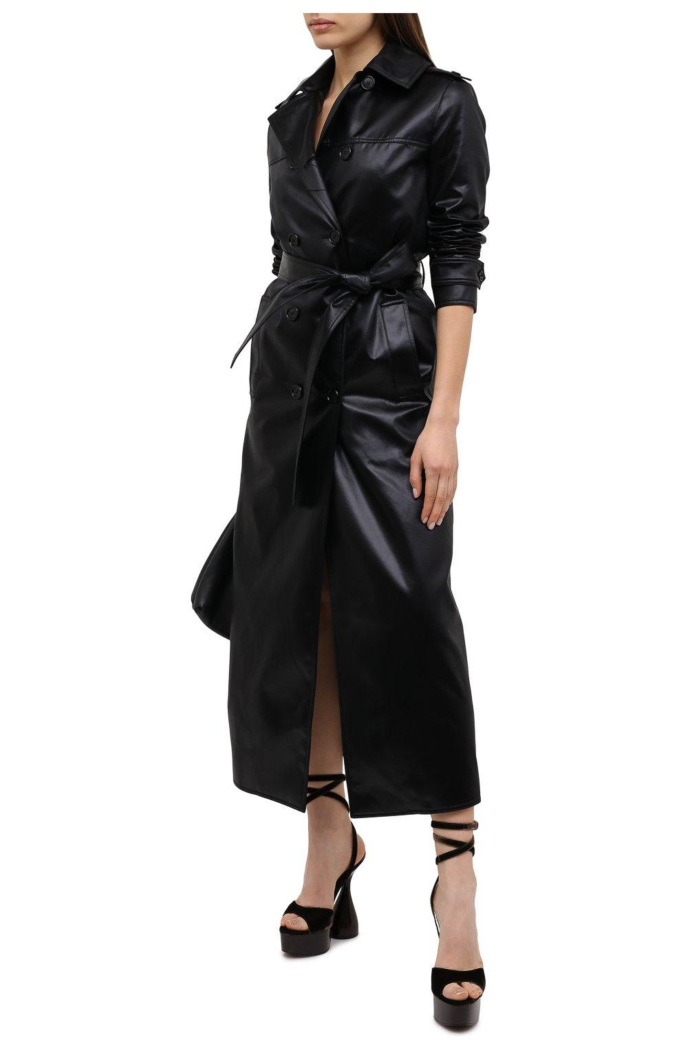 Женские текстильные босоножки TOM FORD темно-коричневого цвета, арт. W2801T-TVE001   Фото 2