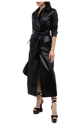 Женские текстильные босоножки TOM FORD темно-коричневого цвета, арт. W2801T-TVE001 | Фото 2