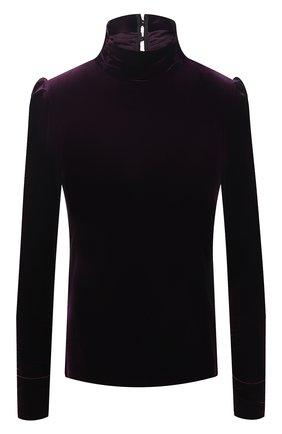 Женская бархатный топ FORTE_FORTE фиолетового цвета, арт. 7753 | Фото 1