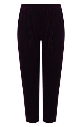 Женские бархатные брюки FORTE_FORTE фиолетового цвета, арт. 7754 | Фото 1
