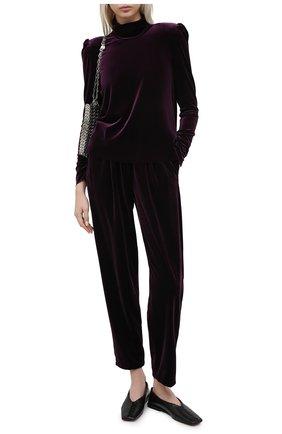 Женские бархатные брюки FORTE_FORTE фиолетового цвета, арт. 7754 | Фото 2