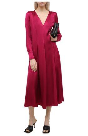 Женское платье из вискозы FORTE_FORTE розового цвета, арт. 7777 | Фото 2