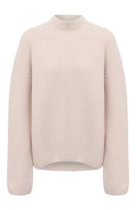 Женский свитер из шерсти и кашемира FORTE_FORTE белого цвета, арт. 7845 | Фото 1