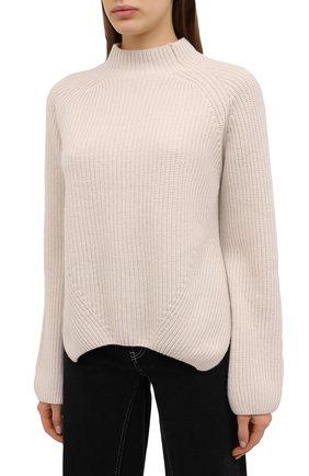 Женский свитер из шерсти и кашемира FORTE_FORTE светло-бежевого цвета, арт. 7845 | Фото 3