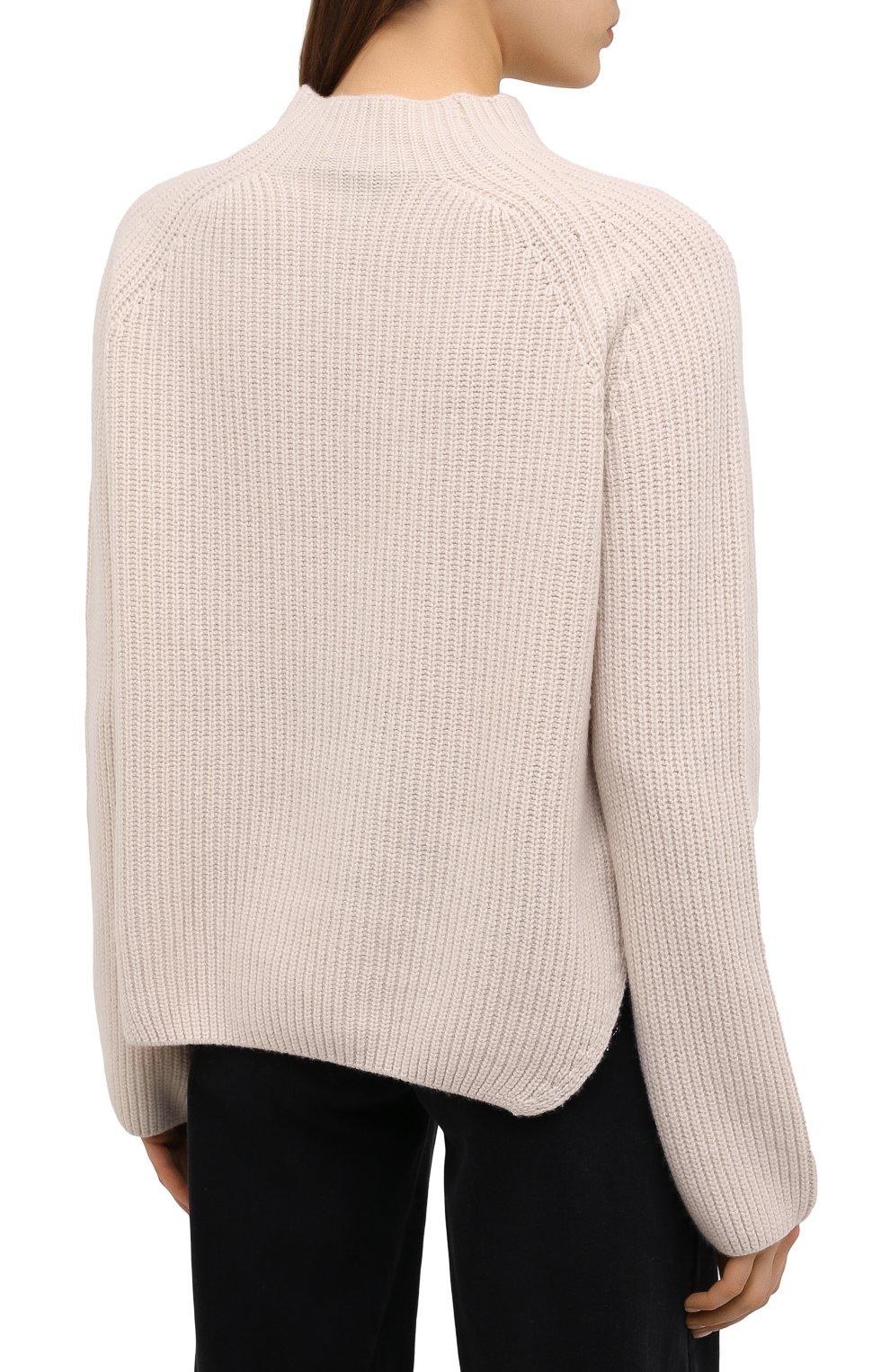 Женский свитер из шерсти и кашемира FORTE_FORTE светло-бежевого цвета, арт. 7845 | Фото 4