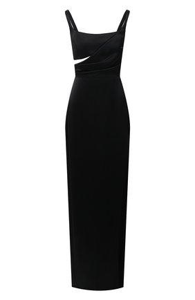Женское шелковое платье BRANDON MAXWELL черного цвета, арт. GN189PF20 | Фото 1