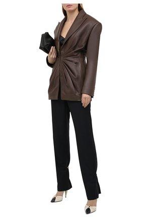 Женский кожаный жакет BALMAIN темно-коричневого цвета, арт. UF07763/L025 | Фото 2
